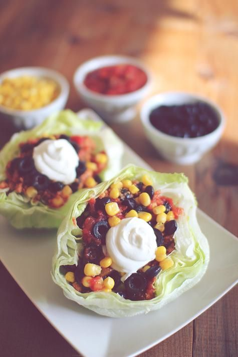 A lighter lunch - Turkey Lettuce Wrap Tacos! #yummy