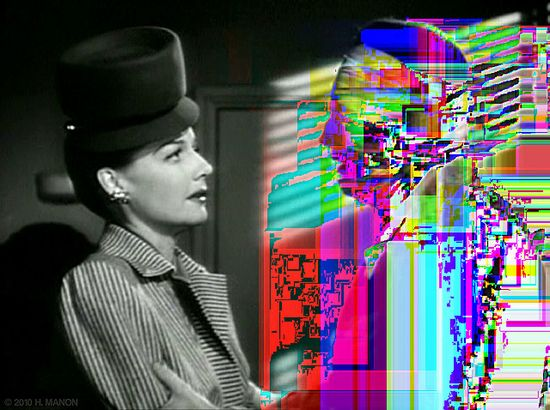 Glitch Art: It's my duty to defend you, but I can't do anything for you unless you talk to me. by eaubscene, via Flickr