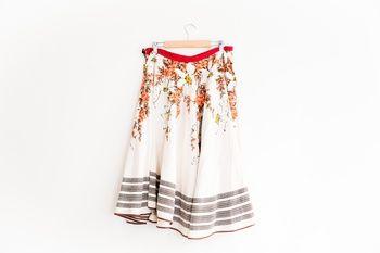 'Juanita' handmade skirt, vintage fabric