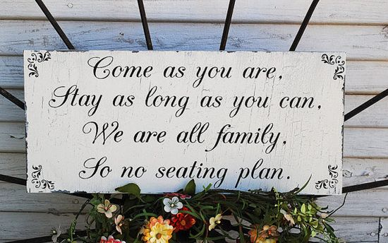 No Seating Plan Wedding Signs Wedding Decorations by familyattic, $37.95