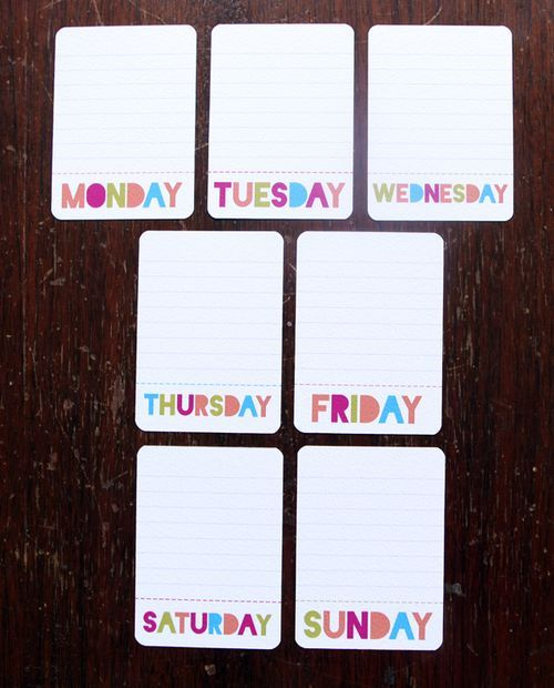 Free printable 3 x 4 journaling cards