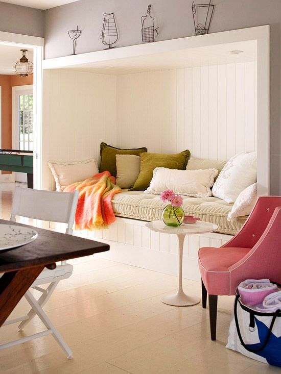 We love the fresh combination of color in this living room.