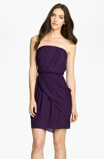 Donna Morgan Strapless Silk Georgette Blouson Bridesmaid Dress #Nordstrom