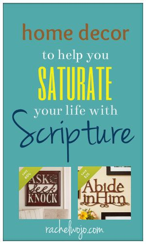 4 home decor items to assist anyone with the goal of saturating your life with Scripture!