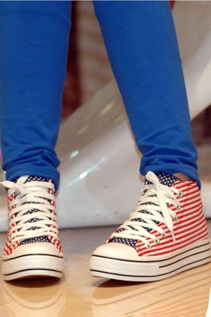Korea Fashion lace-up Fastening Creepers