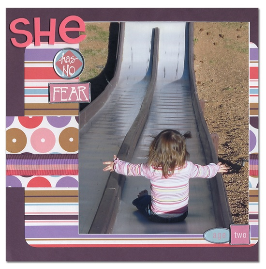 she has no fear - Scrapbook.com - #scrapbooking #layouts