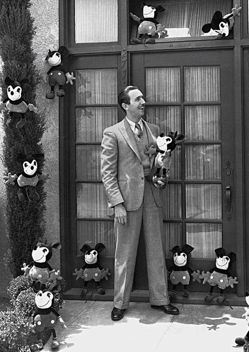 Walt Disney is surrounded