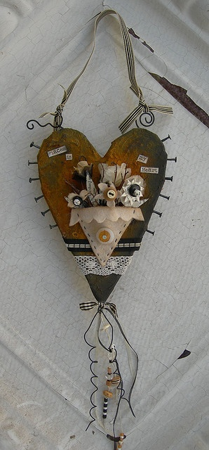 mixed media heart