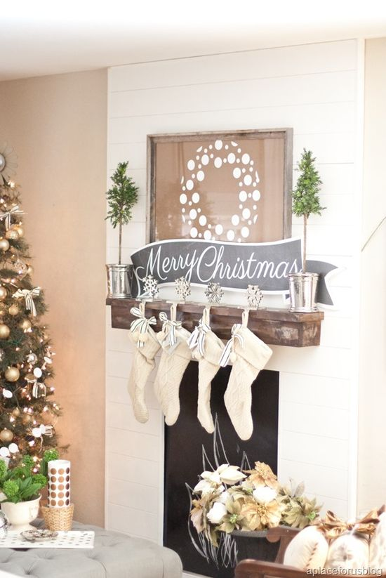 Beautiful Christmas Mantel by House of Smith Design
