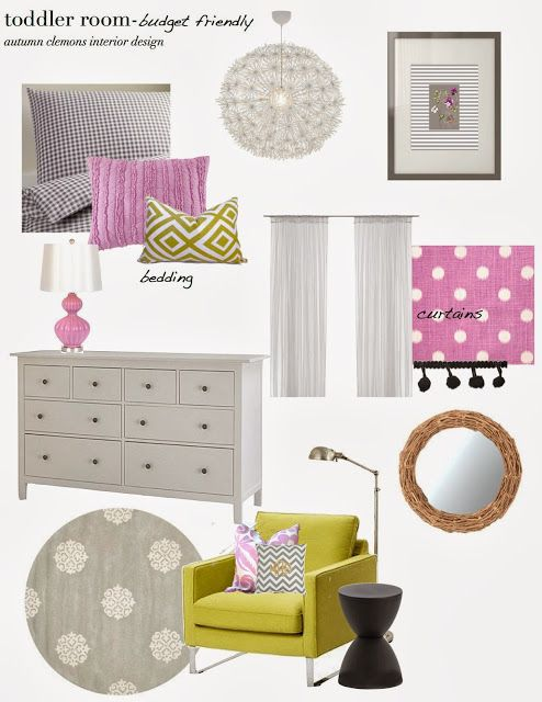 budget friendly toddler room design plan--lavender + citrine