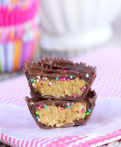 """Birthday Cake"" peanut butter cups"
