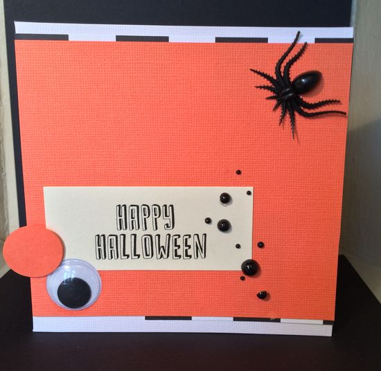 Handmade Halloween Card By: Sonya Fedele