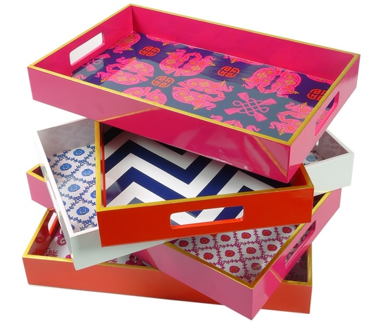 ARTPOP Pink Lacquer Tray Sharing & Inspiring Hollywood Interior Design Fans With Tips & Ideas, Courtesy of InStyle-Decor.com Beverly Hills, Enjoy