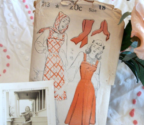 Vintage New York Gold Seal 213 Dress and Scarf Pattern by Penneys, $9.00