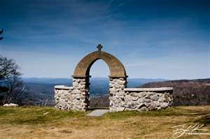 stone arch at the church