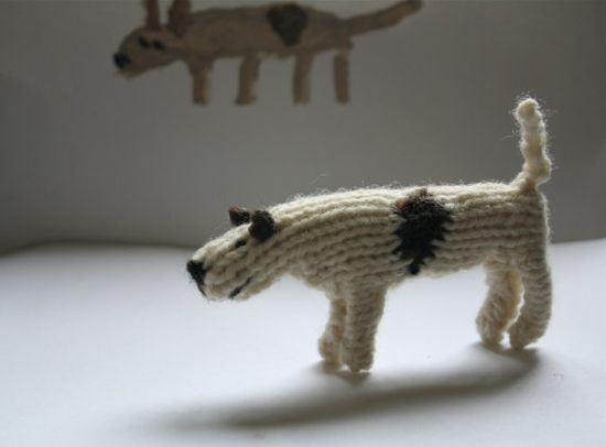 knitted dog