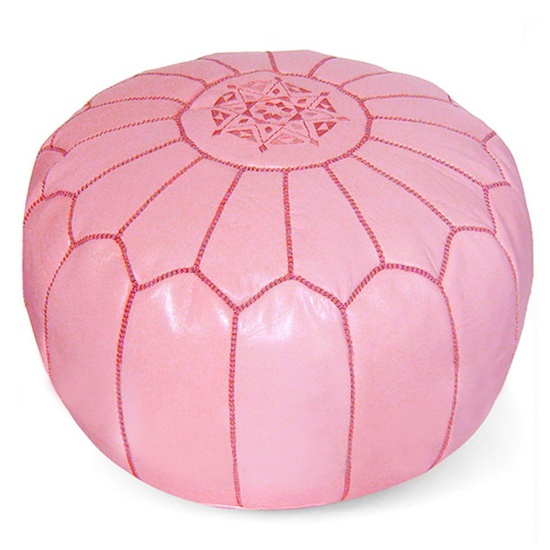 Pink Leather Moroccan Pouf Sharing & Inspiring Hollywood Interior Design Fans With Tips & Ideas, Courtesy of InStyle-Decor.com Beverly Hills, Enjoy
