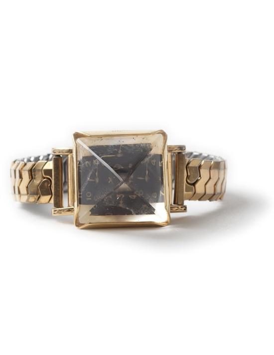 Large Pyramid Quartz Watch