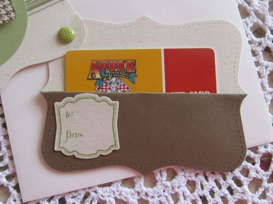 Stampin' Up Handmade Gift Card Holder General For by ConroysCorner