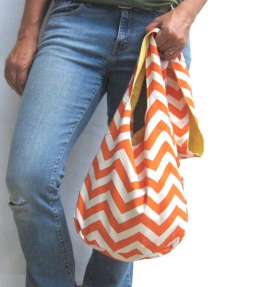 Orange Chevron Purse. Fall Fashion. by SmiLeaGainCreations on Etsy, $44.00