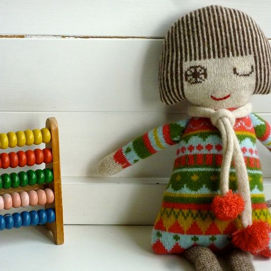 Knitted Lambswool Dolly by Sally Nencini