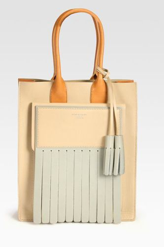 Structured menswear bag in gorgeous pastels