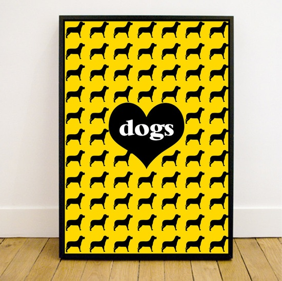 Print A3 Love Dogs Customized. $35.00, via Etsy.