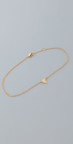 I think anklets are making a comeback and I NEED this delicate heart...