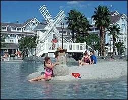 Disney's Beach Club Resort is a New England-style Disney Deluxe Resort, shaded by broad oak trees and lapped by the gentle waters of 25-acre Crescent Lake.