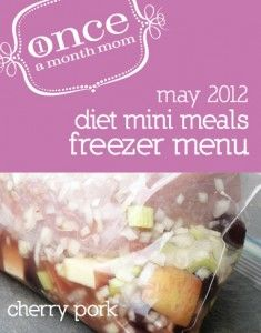 Freezer cooking diet menu - 5 recipes, 10 dinners. So easy.