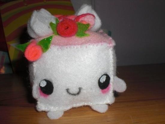 kawaii handmade cake plushie