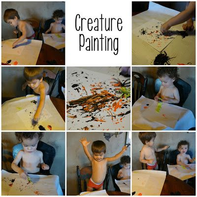 Creature Painting {Untamed Toddler}