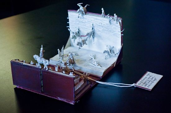 Cinema book sculpture -