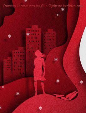 "Eiko Ojala - Detail of Book Cover ""Night Has Fallen"""