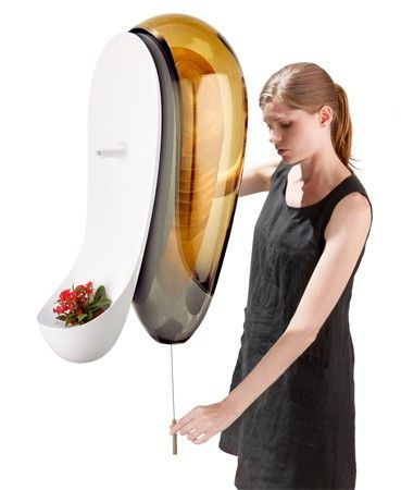 Philips urban beehive with built in smoker to calm bees before tapping the honey