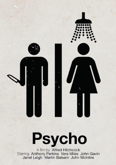 // 'Psycho' pictogram movie poster //