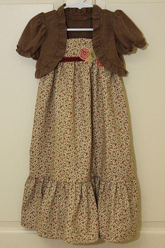 For little girls: Maxi Dress and Shrug-Tutorial