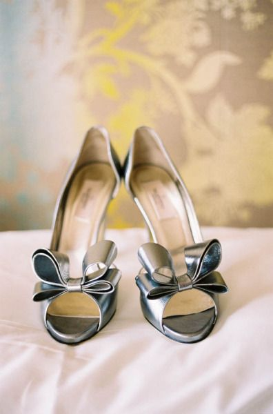 Silver Bows - Fabulous Wedding Shoes