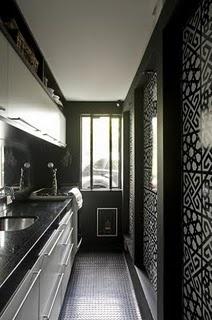 Pretty Patterned Walls- modern kitchen