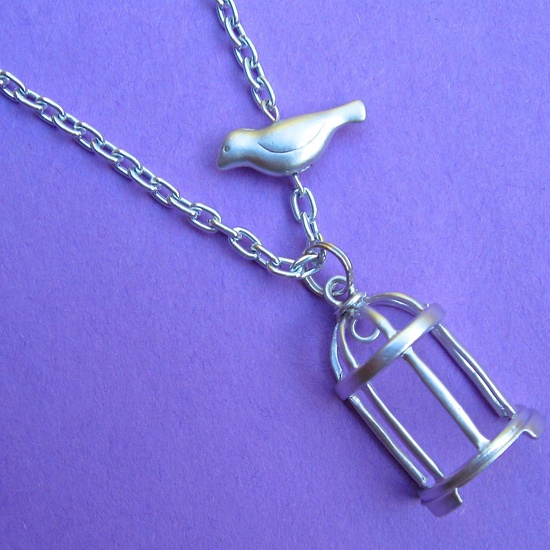 SHE'S GONE necklace. $24.00.  Works on so many levels.  Love this one.  :)