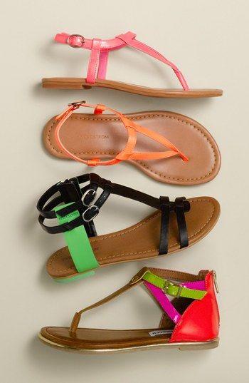 Bright & bold Nordstrom kids sandals.