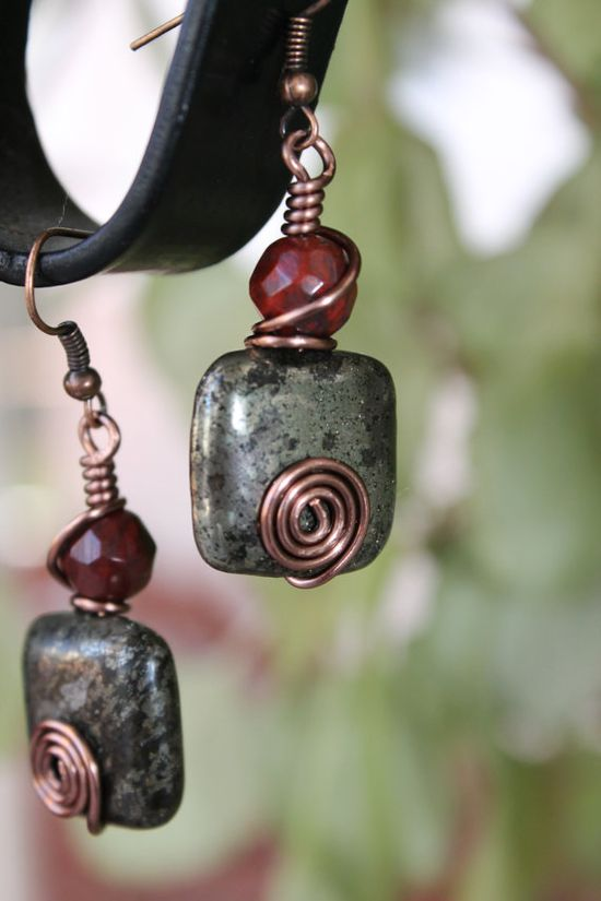 Rustic Earrings antique style earrings by shahrinalam on Etsy, $12.00