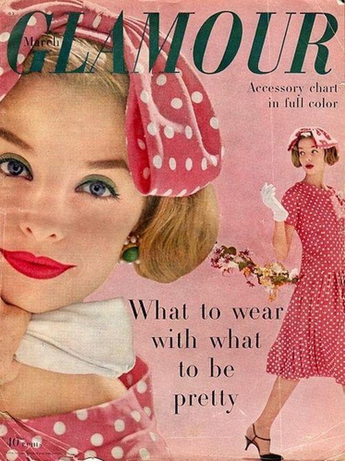pink retro polka dots