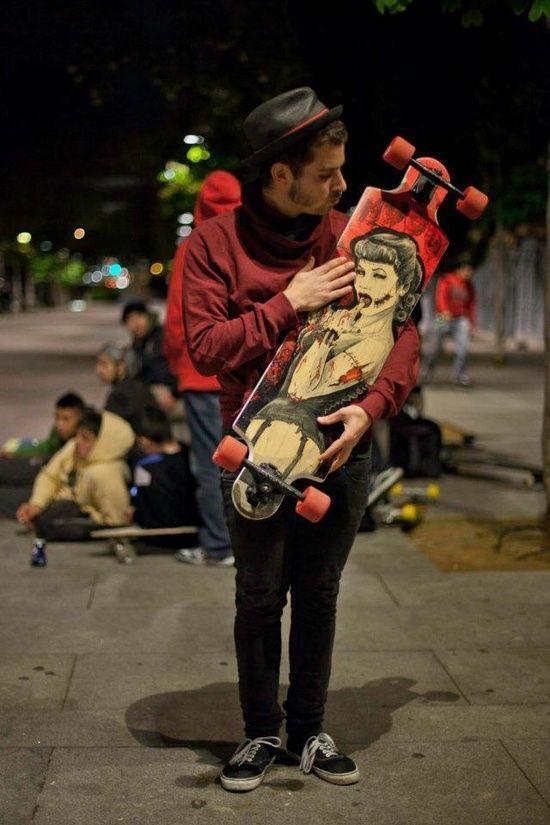 HUGU handmade longboard ilustration   Photo by Eduardo from #handmade paper baskets