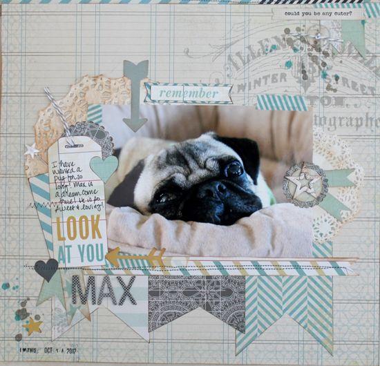 #papercraft #scrapbook #layout Max - Scrapbook.com