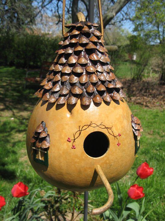 English Cottage Gourd Birdhouse