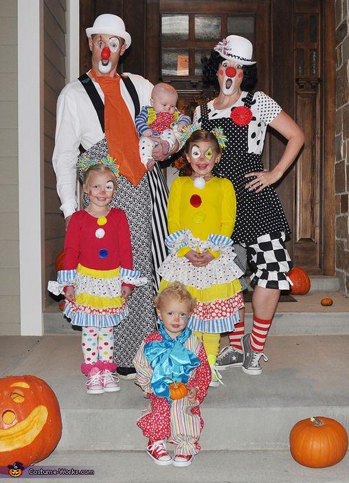 Clowning Around - Family Halloween Costume