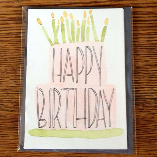 Handmade birthday card by Mint + Maple Designs