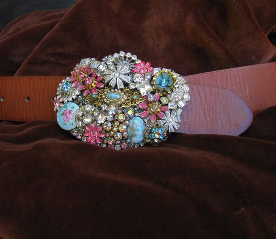 Buckle with Vintage Jewelry