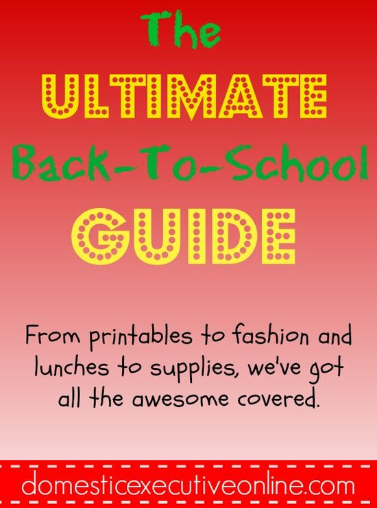 The ULTIMATE Back To School Guide #backtoschool